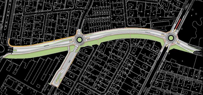 Vejindsnævring og rundkørsler i Vallensbæk