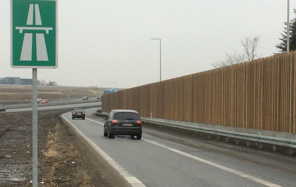 Støjskærm - Køge Bugt motorvejen