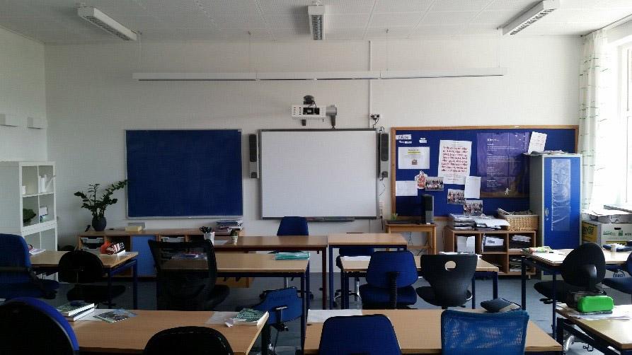 Billedet viser klasselokale 11 før renoveringstiltagene